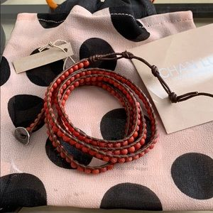 AUTHENTIC Chan Luu Red Coral wrap bracelet